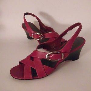 Circa Joan & David Red Wedge sandals 9M